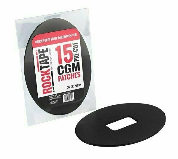 Кинезиотейпы RockTape Patch для крепления глюкометра, 15 шт