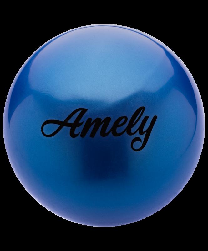 Мяч для художественной гимнастики AGB-101, 19 см, синий, Amely