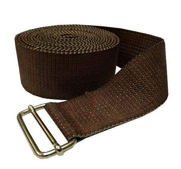 Ремень для йоги хлопковый Де люкс  RamaYoga VIO270F коричневый, 270x4 см, 0.2 кг