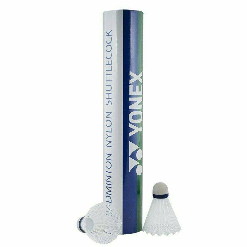 СЦ*Воланы для бадминтона Yonex GR-101S (нейлон), уп. 12 шт, сред. скор., белый