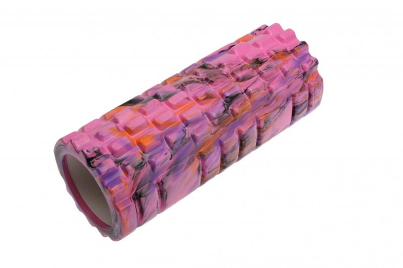 Валик для фитнеса «ТУБА», камуфляж розовый BRADEX SF 0334