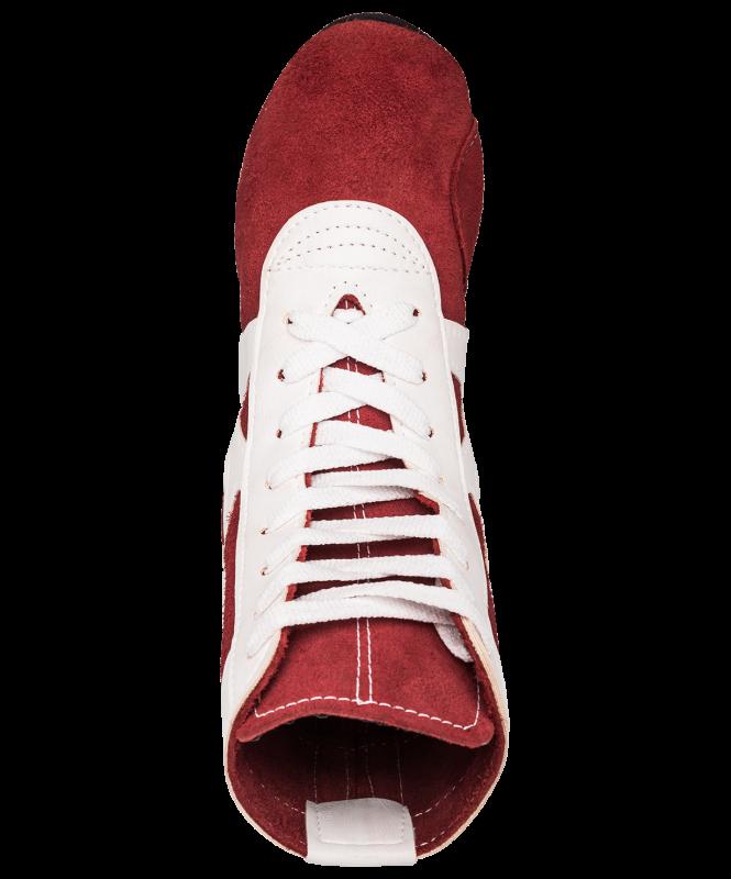 Обувь для самбо RS001/2, замша, красный, Rusco