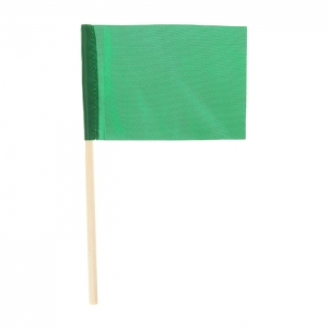 Флажок на деревянной палочке, зеленый