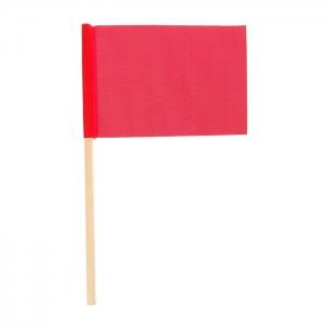 Флажок на деревянной палочке, красный