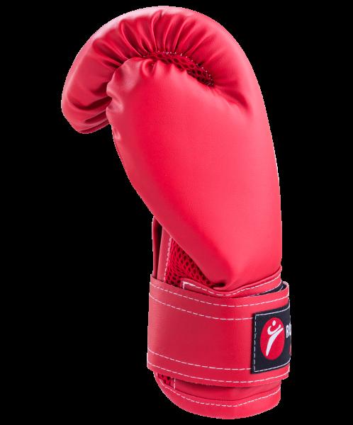 Перчатки боксерские, 8oz, к/з, красные, Rusco