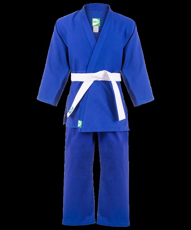 Кимоно для дзюдо MA-302, синий, р.00/120, Green Hill