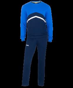 Тренировочный костюм детский JCS-4201-971, хлопок, темно-синий/синий/белый, Jögel