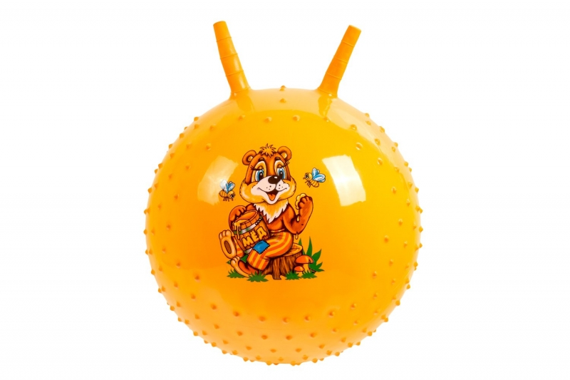 Детский массажный гимнастический мяч, желтый BRADEX DE 0541