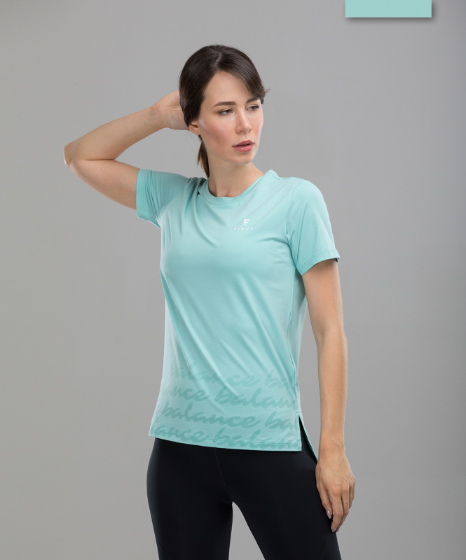 Женская спортивная футболка Balance FA-WT-0105, мятный, FIFTY