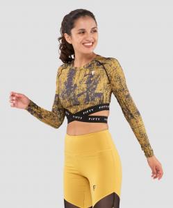 Женская футболка с длинным рукавом Sand Marble FA-WL-0205-389, с принтом, FIFTY