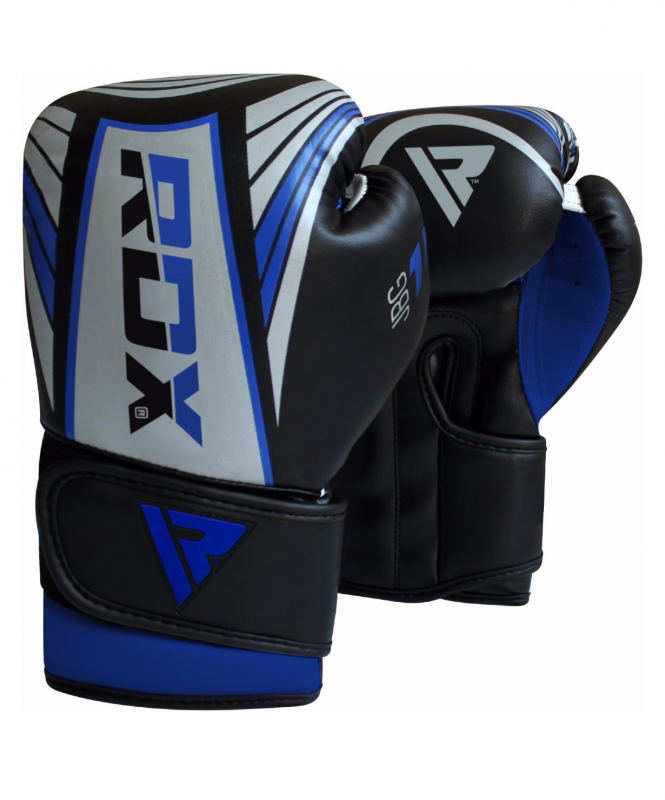 Перчатки боксерские KIDS JBG-1U SILVER/BLUE JBG-1U-4oz, 4 oz, RDX