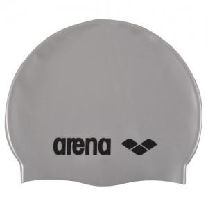 Шапочка для плавания  ARENA Classic Silicone , арт.9166251, СЕРЕБРИСТЫЙ, силикон
