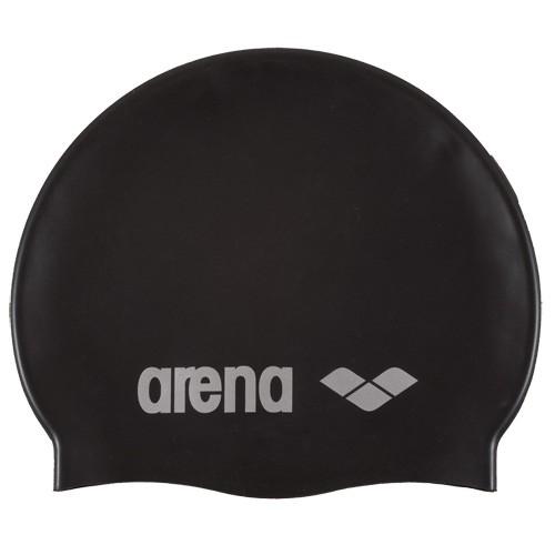 Шапочка для плавания  ARENA Classic Silicone , арт.9166255, ЧЕРНЫЙ, силикон