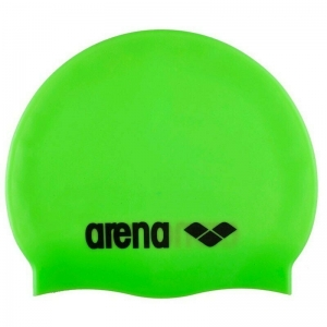 Шапочка для плавания  ARENA Classic Silicone , арт.9166265, ЗЕЛЕНЫЙ, силикон