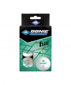 Мяч для настольного тенниса 1* Elite, 6 шт., белый, DONIC