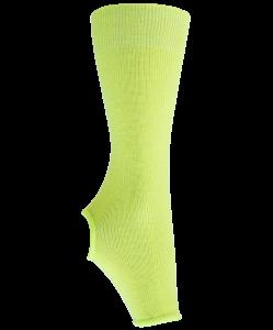 Гетры гимнастические разогревочные Stella Lime, шерсть, 30 см, Chanté