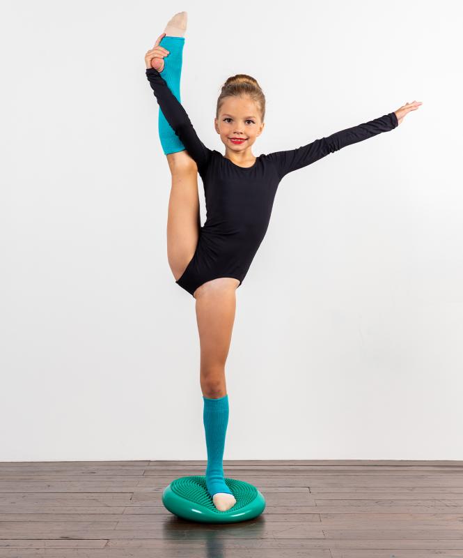 Гетры гимнастические разогревочные Stella Aquamarine, шерсть, 40 см