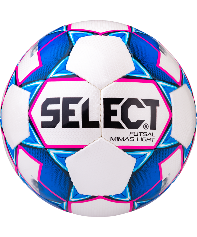 Мяч футзальный Futsal Mimas Light 852613, №4, белый/синий/розовый, Select