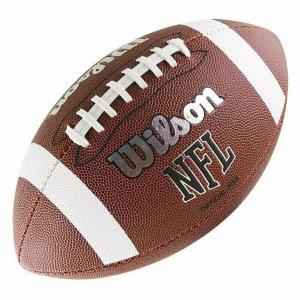 Мяч для американского футбола WILSON NFL Official Bin, арт.WTF1858XB,синтетическая кожа ПУ, бутиловая камера , машинная сшивка ,коричн