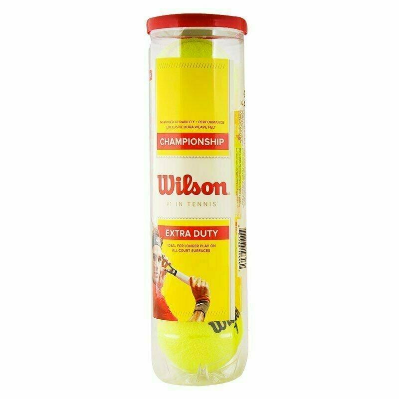 Мяч теннисный WILSON Championship, арт. WRT110000, одобр.ITF и USTA,фетр,нат.резина, уп.4 шт, желтый