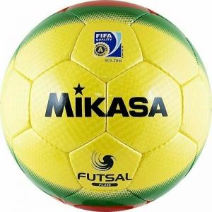 Мяч футзальный MIKASA FL450 , р.4, FIFA Quality Pro, 32 пан, гл.ПУ, руч.сш, бутиловая камера , желто-крас-зел.