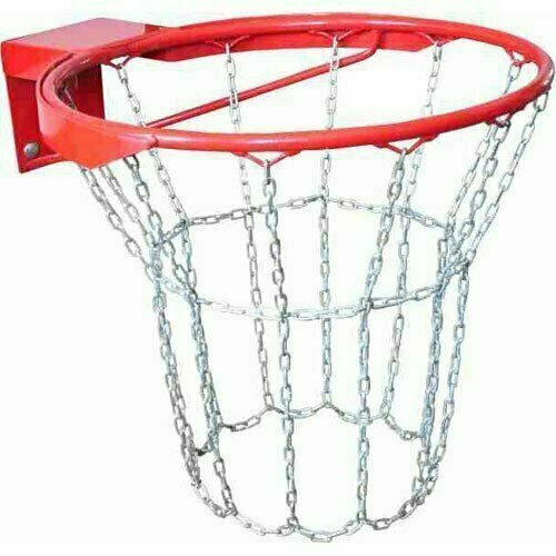 Кольцо баскетбольное антивандальное № 7, арт.MR-BRim7Av, диам.450 мм,метал. с метал.цепью,с кронштейном, красн MADE IN RUSSIA