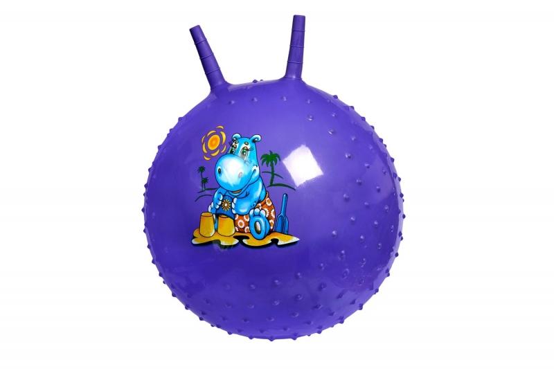 Детский массажный гимнастический мяч, фиолетовый BRADEX DE 0537