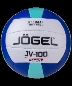 Мяч волейбольный JV-100, синий/мятный, Jögel