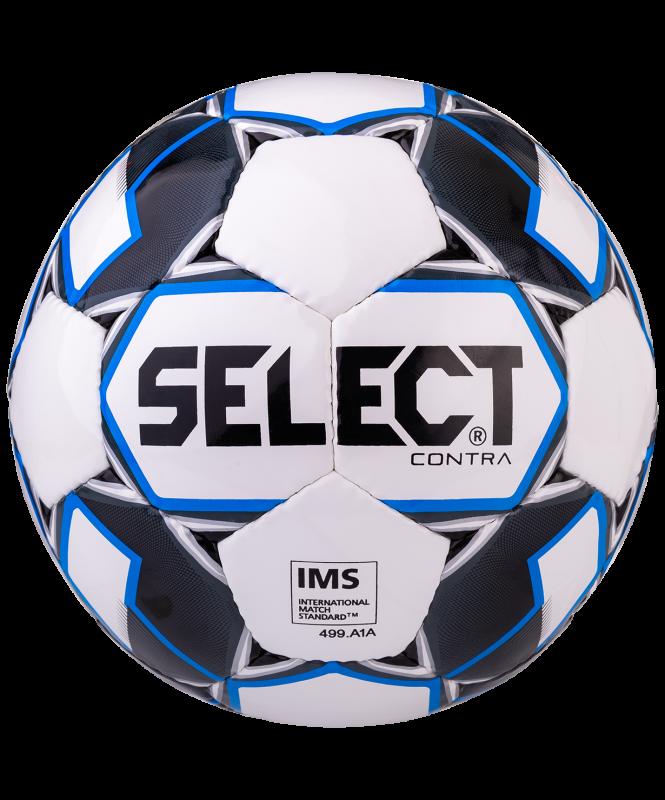 Мяч футбольный Contra IMS 812310, №5, белый/черный/синий, Select