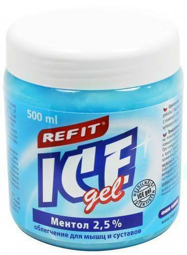 Охлаждающий гель Ментол 2,5% Refit Ice Gel 500 мл