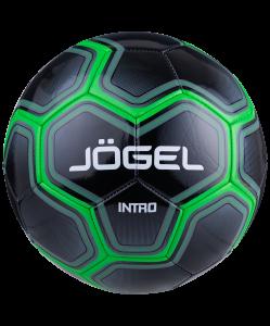 Мяч футбольный Intro №5, черный, Jögel