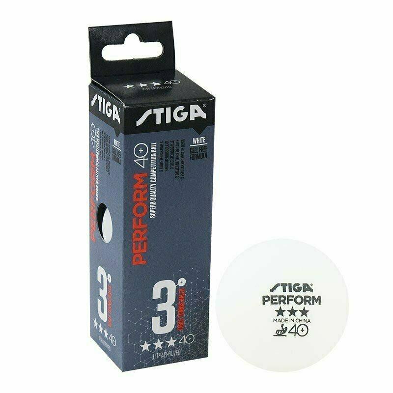 Мяч для настольного тенниса Stiga Perform 3***, 40+, арт.1113-2110-03, пластик, ITTF Appr., уп.3 шт, бел