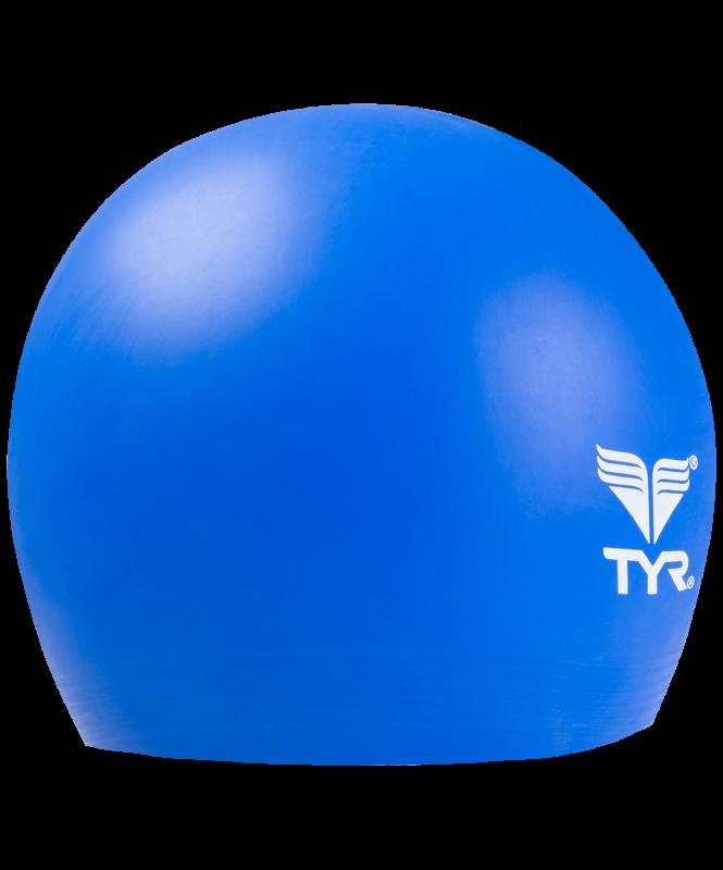 Шапочка плавательная Latex Swim Cap, латекс, LCL/428, голубой, TYR