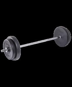 Штанга разборная BB-401, стальной гриф, пластиковые диски, 35 кг, Starfit