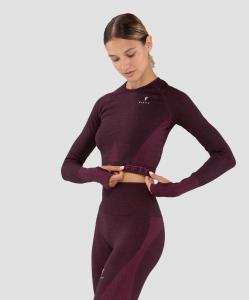 Женская футболка с длинным рукавом Emphatic bordo FA-WL-0203-BRD, бордовый, FIFTY