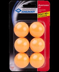 Мяч для настольного тенниса 3* Avantgarde, оранжевый, 6 шт, Donic