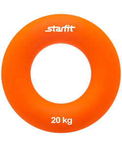 Эспандер кистевой ES-404 Кольцо, диаметр 8,8 см, 20 кг, оранжевый, Starfit