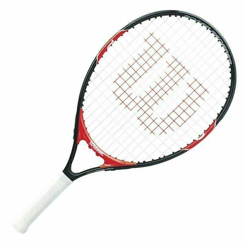 Ракетка теннисная Wilson Roger Federer 21 Gr00000,арт.WRT200600, для 5-6лет,алюм.,со струн,крас-бел-черн