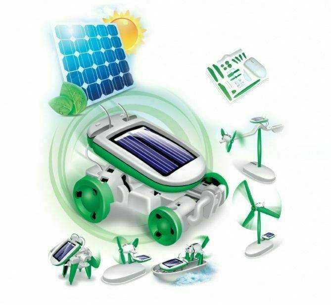 Конструктор на солнечных батареях 6 в 1 «SOLAR MOTION» BRADEX DE 0066
