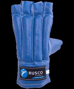 Перчатки снарядные, шингарды, кожзам, синий, Rusco
