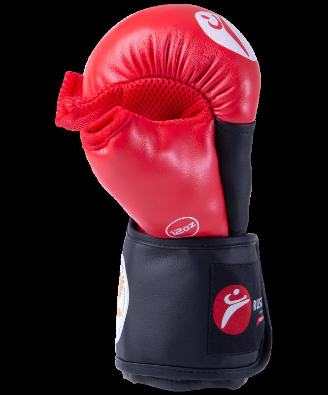 Перчатки для рукопашного боя PRO, к/з, красный, Rusco