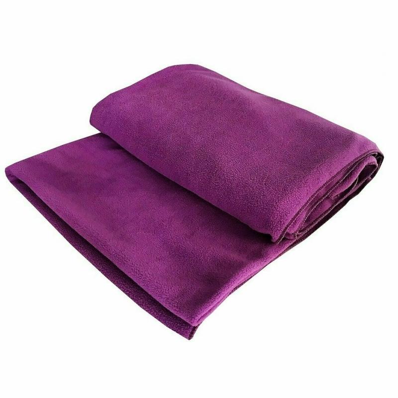 Плед Сурья для шавасаны, нидры и релаксации RamaYoga Flis2 фиолетовый, 200x150 см, 1.3 кг