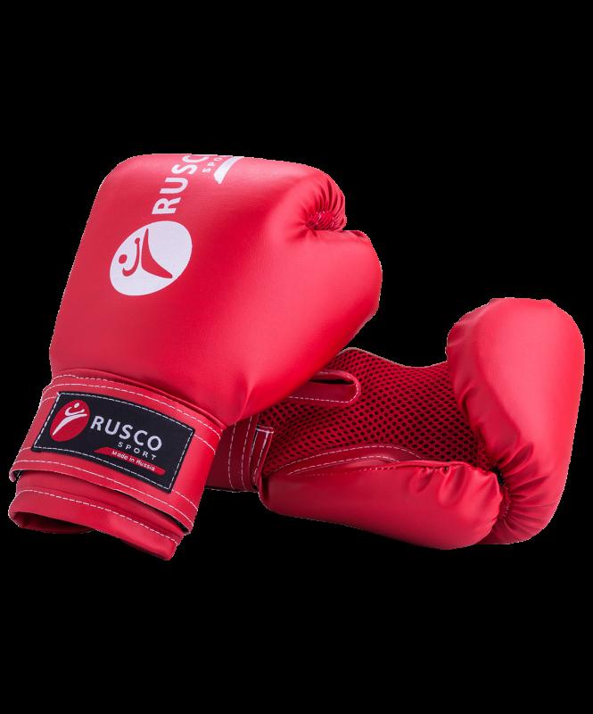 Перчатки боксерские,10oz, к/з, красные, Rusco