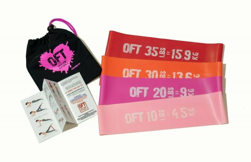 Набор из 4 широких мини-эспандеров Original FitTools FT-75-MORENA