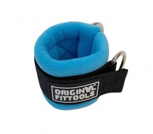 Ремень для тренировки мышц рук регулируемый синий (D-кольцо) Original FitTools FT-AS03-D-BE