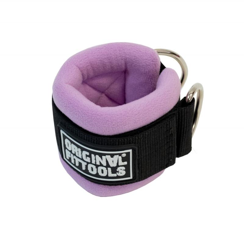 Ремень для тренировки мышц рук регулируемый фиолетовый (D-кольцо) Original FitTools FT-AS03-D-PP