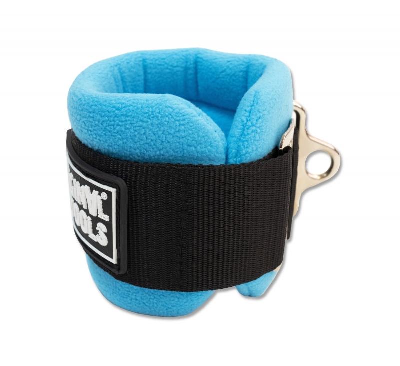 Ремень для тренировки мышц бедра и ягодиц регулируемый синий (F0-кольцо) Original FitTools FT-AS05-F0-BE
