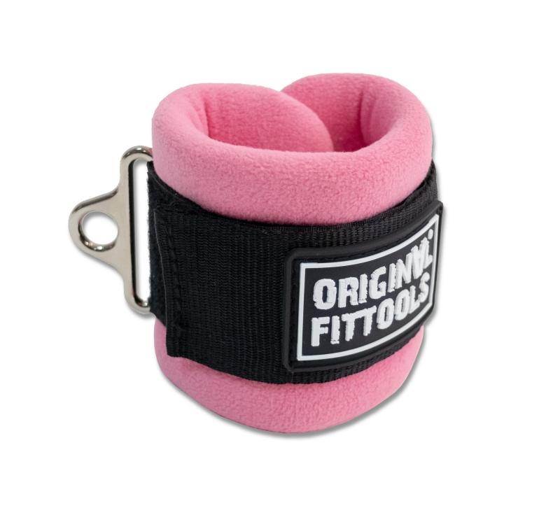 Ремень для тренировки мышц бедра и ягодиц регулируемый розовый (F0-кольцо) Original FitTools FT-AS05-F0-PK