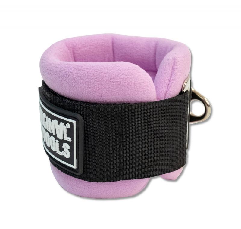 Ремень для тренировки мышц бедра и ягодиц регулируемый фиолетовый (F0-кольцо) Original FitTools FT-AS05-F0-PP