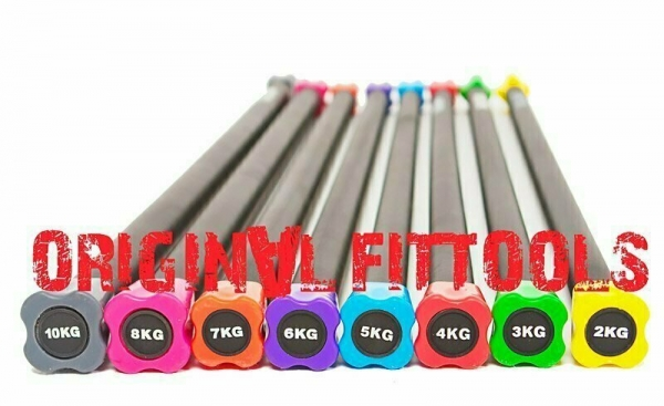 Бодибар FT 10 кг серый наконечник Original FitTools FT-BDB-10